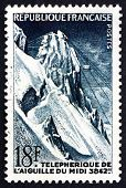 Postage Stamp France 1956 Cable Railway To Pic Du Midi