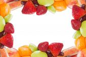 Frame Or Borders That Made Of Fresh Fruit