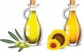 olive and sunflower oils