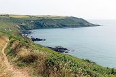 South West coast path Whitsand bay Cornwall