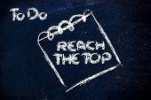 Must Reach The Top, Message On Memo On Blackboard