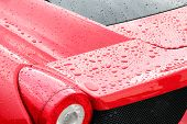 Droplets On A Sport Car