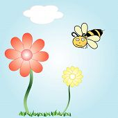 Flowers And Bee