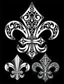 Vintage Heraldry Fleur De Lis Set