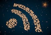 Arranged Wifi Icon Made Of Tiny Spheres