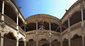 Panoramic Courtyard With Well