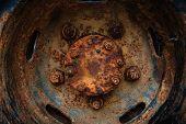 Beautiful Texture Of Rusty Old Wheel