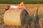 Girl in cornfield at region Liptov, Slovakia