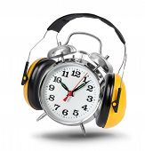 Alarm clock with hear protectors