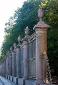 Decorative Railing Of The Summer Garden, St.petersburg, Russia