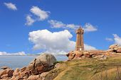 stock photo of por  - Pors Kamor lighthouse Ploumanac - JPG