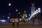Les Invalides (The National Residence of the Invalids) at night - Paris France