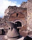 Roman baker oven, Pompeii, Italy.
