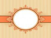 Illustration of a Vintage Frame with a Baroque Design