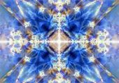 Blue Kaleidoscope Background