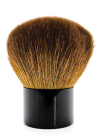 picture of face-powder  - single powder brush against the white background - JPG
