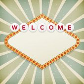 Retro Background With Promotional Message. Welcome To... Background With Promotional Message.