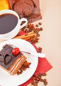 Coffee With Spices And Cake