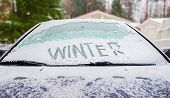 Winter And Car