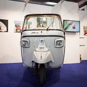 Ape Motor Vehicle On Display At Bit 2014, International Tourism Exchange In Milan, Italy