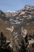 Pinnacles In Anisclo Valley, Ordesa National Park, Pyrenees, Huesca, Aragon, Spain