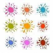 Colorful Splash - Stain - Blot Illustration Set