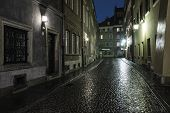 A street in the old town of Warsaw