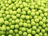stock photo of hairy  - 3d render of tennis ball background - JPG