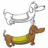 evil dachshund cartoon doodle
