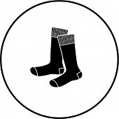 stock photo of knee-high socks  - socks symbol - JPG