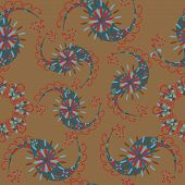 Vector Paisley Seamless Pattern And Seamless Pattern In Swatch Menu