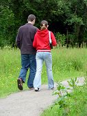 Young Couple Out Walking