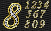 stock photo of arabic numerals  - Number set - JPG
