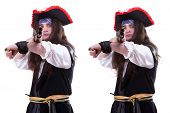 Pirate With A Gun Two Different Focus