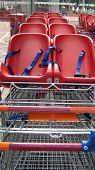shopping carts. trolleys. baskets