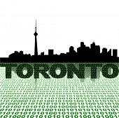 Toronto skyline with binary foreground vector illustration