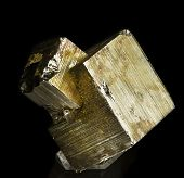 stock photo of pyrite  - tipical crystal of pyrite - JPG
