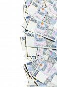 czech money border on white background