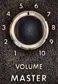 Close Up Of A Vintage Music Amplifier Volume Knob
