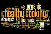 stock photo of food pyramid  - Healthy cooking and slow food diet concepts word cloud illustration - JPG