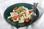Fusilli With White Cream Sauce