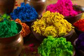 picture of subtraction  - Colorful finely powdered Indian pigments - JPG