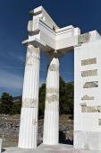 Asklipios templo de Epidauro en Peloponissos, Grecia