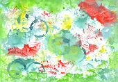 Handiwork Aguacolor Colored    Background. Gorgeous Illustration  For Scrapbooking, For Print  And O