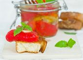 foto of marinade  - marinaded in Italian sweet pepper on crackling bread - JPG