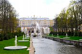stock photo of samson  - The Grand Peterhof Palace And Samson Fountain In Peterhof - JPG