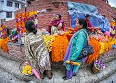Flower Garlands Market In Kathmandu