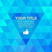 Blue Geometric Presentation Background.