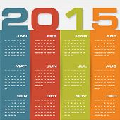 stock photo of august calendar  - clean design simple editable vector calendar 2015 - JPG