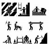 Icon Human Labor. jobs icons over white background vector illustration